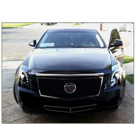 Cadillac Headlights 2008 2014 cadillac cts halogen model led drl projector