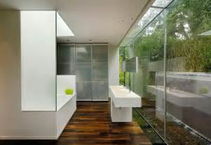 Glass Wall Bathroom Glass Walls In The Bathroom Home The Inspiring