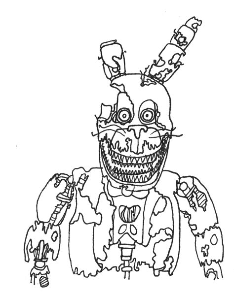 Fnaf 4 Coloring Pages by How To Draw Nightmare Mangle From Five Nights At Freddy S