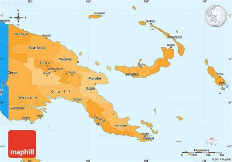 physical map of papua new guinea papua neuguinea politische karte