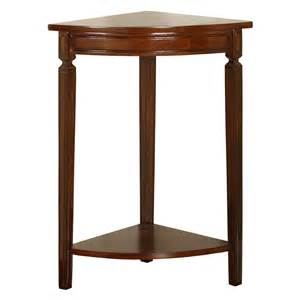 Corner Accent Table Powell Corner Accent Table Mahogany At Hayneedle