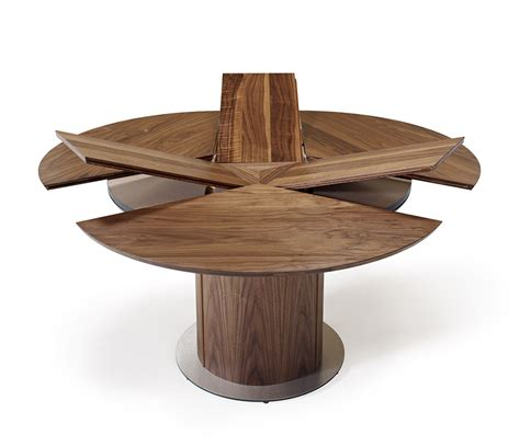 ordinary Round Expandable Kitchen Table #1: extending-walnut-pedestal-dining-table.jpg