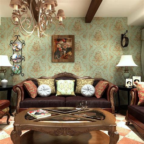 vintage living room wallpaper home decor interior