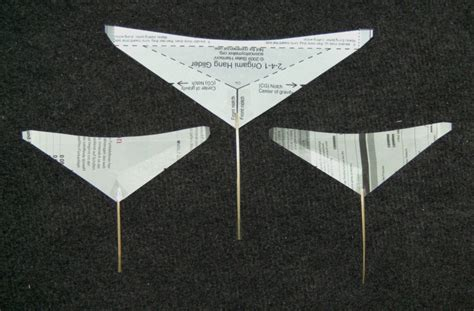 How To Make An Origami Hang Glider - luftwellensurfsegler