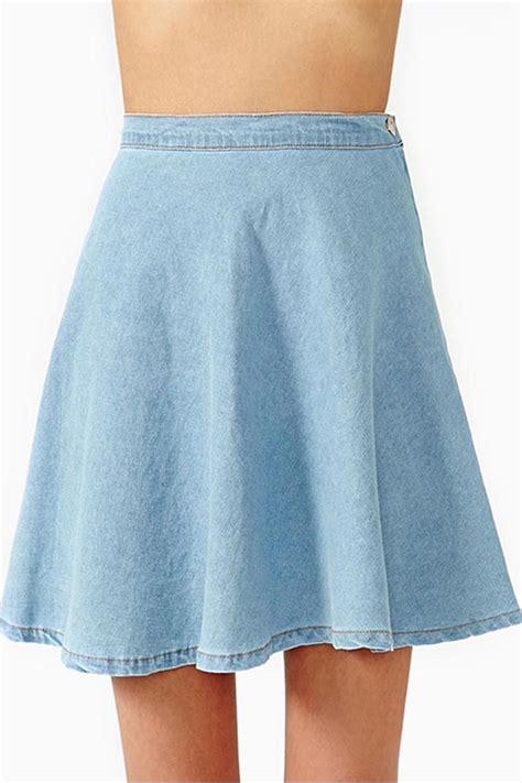 light blue pencil skirt cute jean skirts redskirtz
