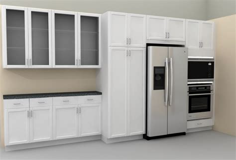 Ikea Kitchen Cabinet Depth Outstanding Ikea Kitchen Pantry Cabinet With Counter Depth Side By Side Refrigerator Also Glass