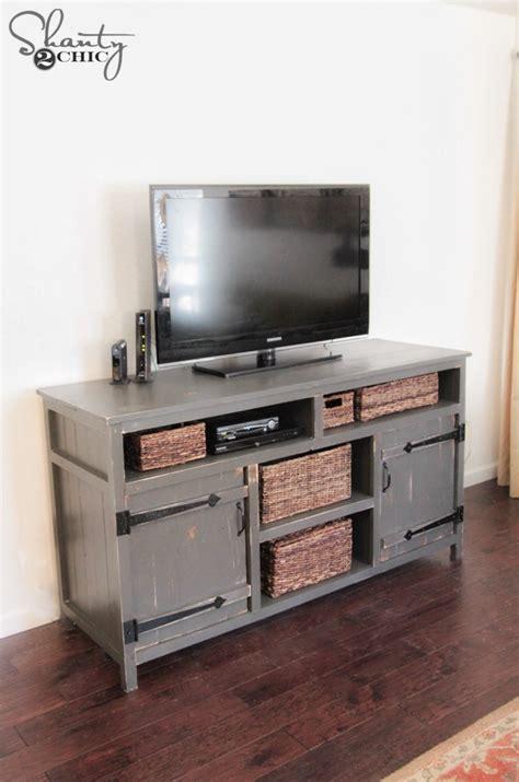 diy media cabinet diy media console free plans shanty 2 chic
