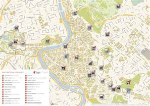 rome printable tourist map sygic travel