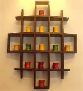 Home Wall Display by Cayenne Mango Wood Wall Display Rack By Market Finds