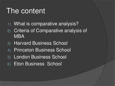 Harvard Mba Qualifications by Comparative Analysis Of Harvard Eton Princeton