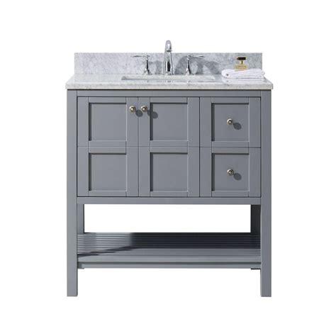 36 X 22 Vanity Top virtu usa winterfell 36 in w x 22 in d vanity in grey