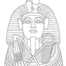 tutankhamun mask template pharao kostenlos zum anmalen zum ausmalen de hellokids