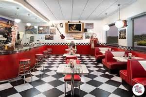 Restaurant Bench Seats Retro Furnishings And Jukebox American Diner