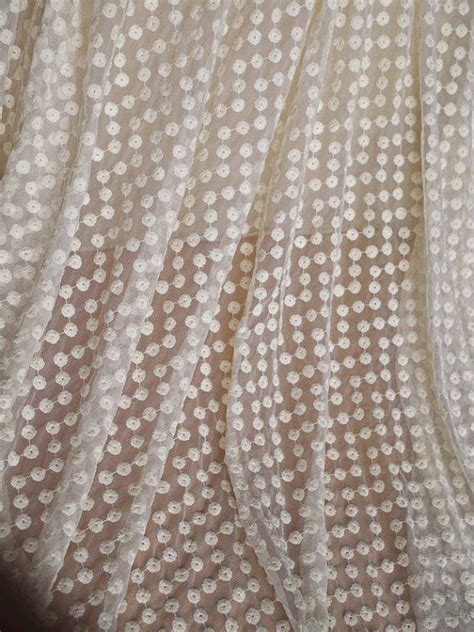 cotton lace fabric for curtains cream lace fabric embroidered small daisy cotton fabric