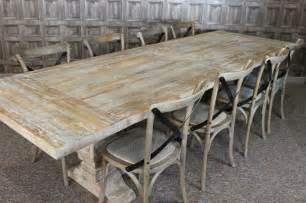 White Distressed Dining Table And Chairs Large 3m Distressed Limed Elm Dining Table White Washed