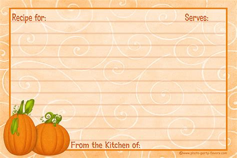 Free Thanksgiving Recipe Card Template by Free Recipe Card Templates Recipe Cards Free