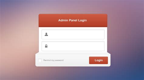 login page in asp net template admin panel login psd html css wm aracı