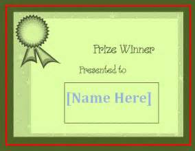 blank winner certificate template free word s templates