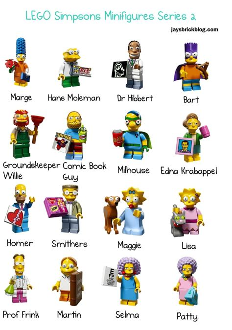 Lego Minifigures Series 12 Complete Set 16 Character review lego simpsons minifigures series 2