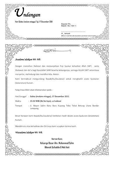 contoh desain undangan syukuran dan hikmah khitanan the knownledge