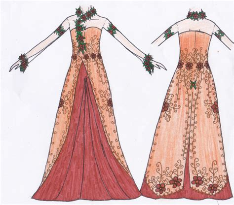 desain gaun sketsa kelopak mata sketsa desain gaun