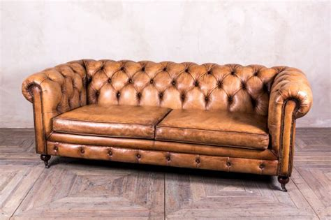 distressed leather chesterfield sofa leather