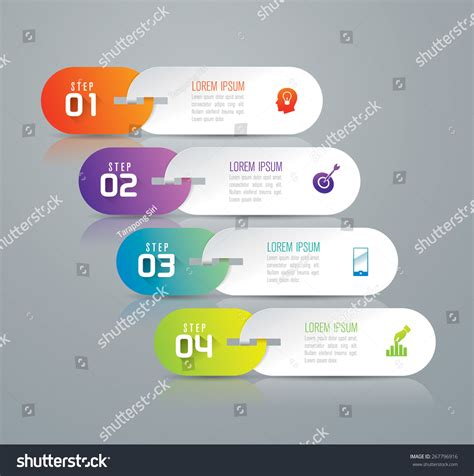 infographic design template can be used stock vector