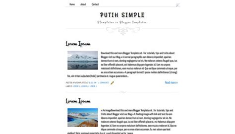 simple templates for blogger free putih simple blogger template btemplates