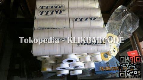 Label Sato Pb 230 Polos Kuning Or Putih jual kertas roll handlabel 2 line dobel merk tito original putih polos klikbarcode