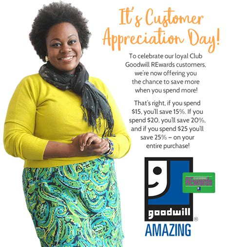 Does Goodwill Have Gift Cards - october 15th is customer appreciation day at goodwill