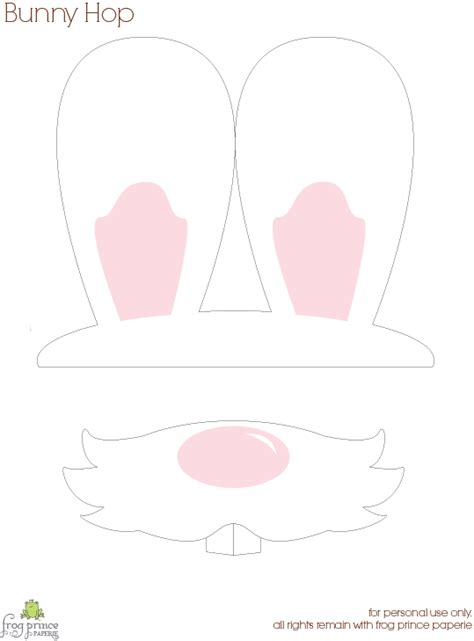 free printable bunny hop bunny ears and nose photo props