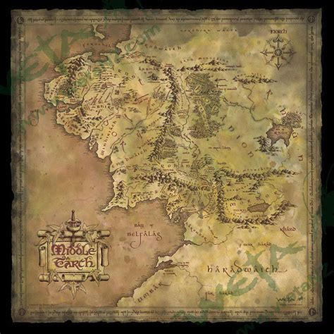 map of middle earth lotr parchment map of middle earth thinkgeek