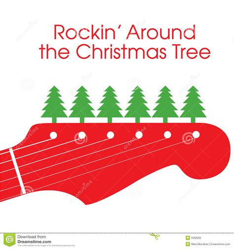 rocking around the christmas tree movies vector guitar stock vector illustration of 5058265