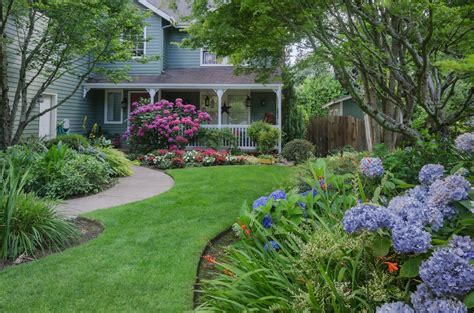 6 Flower Landscaping Ideas For Your Front Yard Back Yard Landscaping With Garden