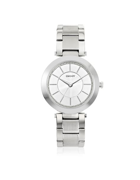 Dkny Dk03 White Silver dkny stanhope silver tone stainless steel s in
