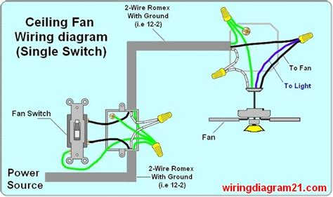 ceiling fan wiring diagram light switch house electrical