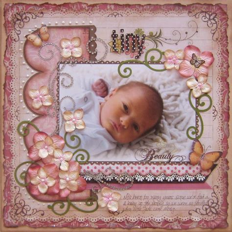 scrapbook layout baby girl cute baby girl scrap book page layouts for girls