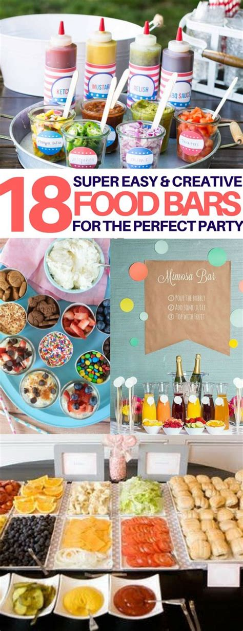 top bar food 18 best food bar ideas perfect for your next party food