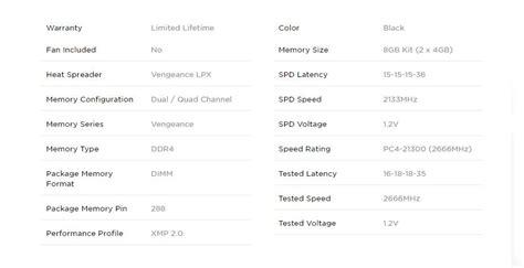 Vengeance Lpx 8gb 2x4gb Ddr4 3200mhz C16 Black Cmk8gx4m2b3200c16 skycomp au corsair vengeance 174 lpx 8gb 2x4gb ddr4 dram 2666mhz c16 memory kit black