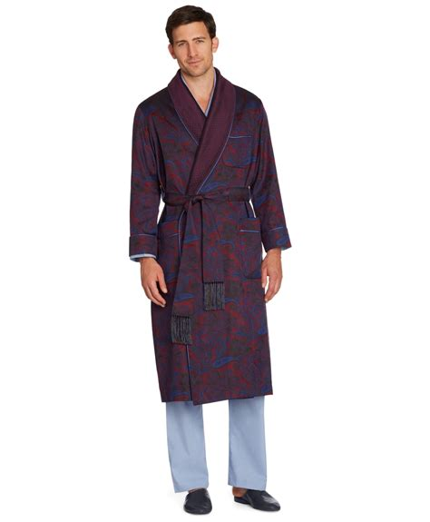 dressing gown brothers silk paisley dressing gown in for