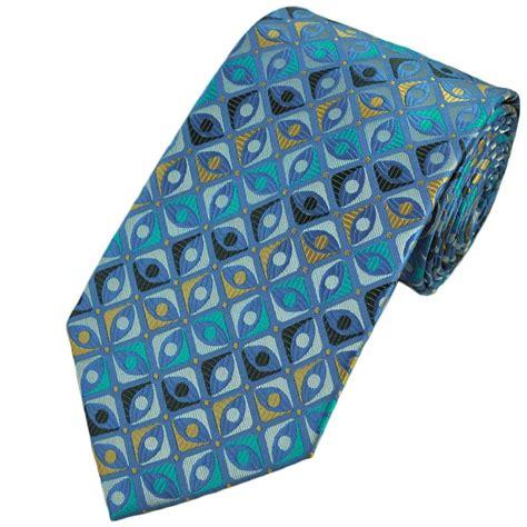 blue patterned ties blue geometric patterned tie from ties planet uk