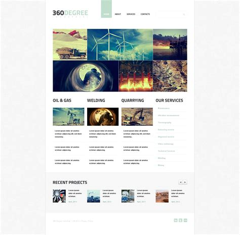 Industrial Agency Wix Website Template 46262 Wix Web Templates