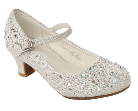 shoes for size 2 white glitter diamante bridesmaid wedding