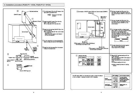 mitsubishi air conditioner installation mitsubishi rg79b202g03 air conditioner installation manual