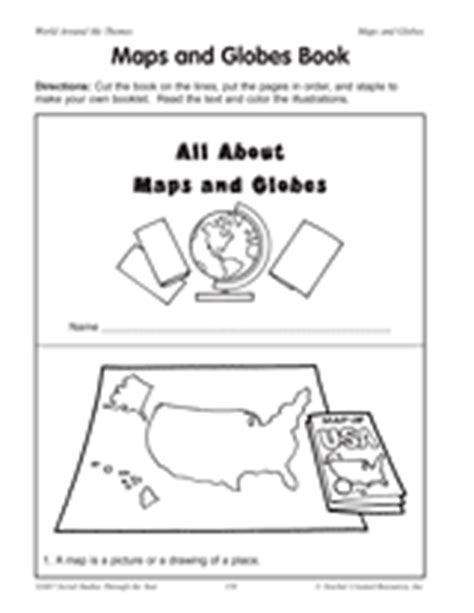 globe and maps lesson plan maps and globes book printable 2nd 4th grade