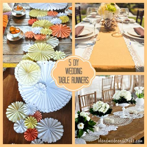 Handmade Decorations For Weddings - 5 diy wedding table runners