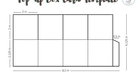 Card Money Box Template by A Bit Of My Crafts Free Pop Up Box Card Template