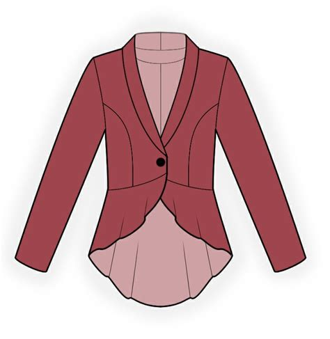 download pattern jacket jacket with peplum sewing pattern 4304 made to measure