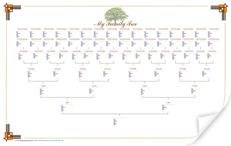 tree charts 6 best images of family tree printable printable family