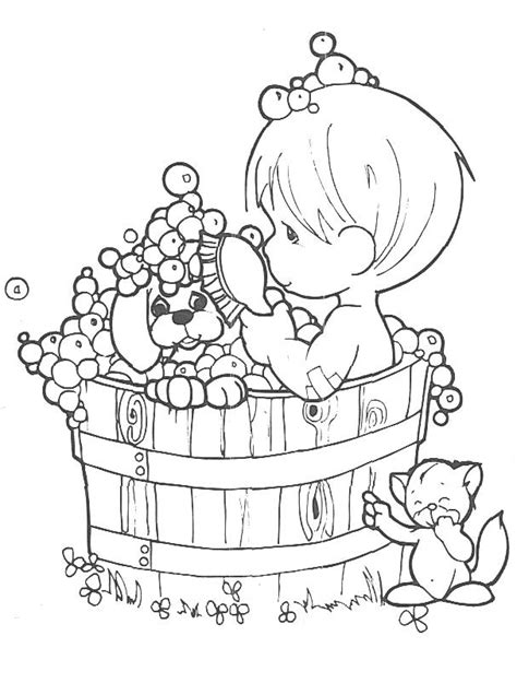 Precious Moments Coloring Pages Kids World Precious Moments Boy Coloring Page Free